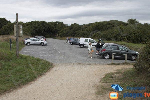 Parking de la plage de Kerler - Fouesnant