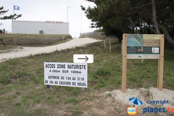 Zone naturiste sur la plage de Fouesnant - Kerler