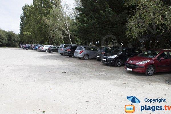 Parking de la plage de Kerleven