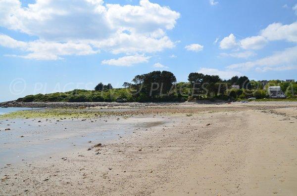 Extrémité droite de la plage de Kerloc'h à Camaret