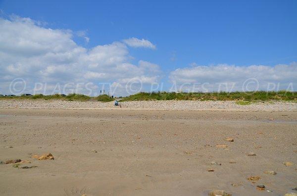 Arrière plan de la plage de Kerloc'h à Camaret