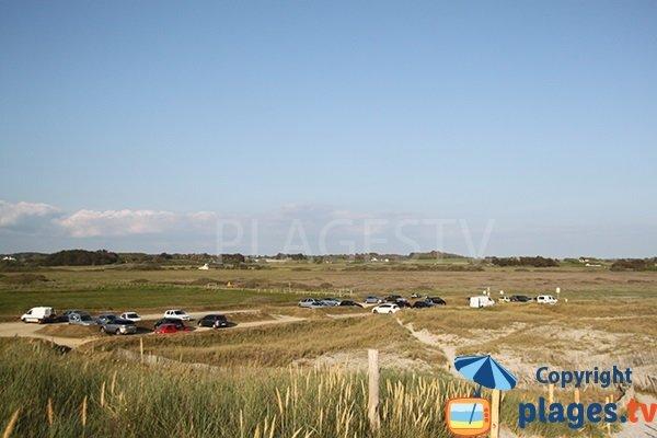 Parking de la plage de Kermabec à Tréguennec