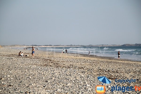 Plage pour le surf à Tréguennec - Bretagne