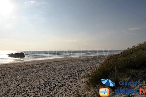 Photo de la plage de Kermabec à Tréguennec