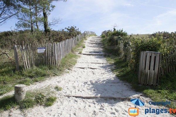 Chemin d'accès à travers la dune - Plage de Kermor - Combrit