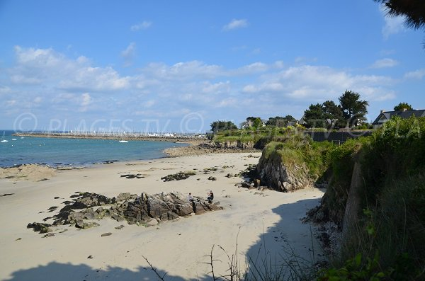Photo de la plage de Kermorvan à Quiberon