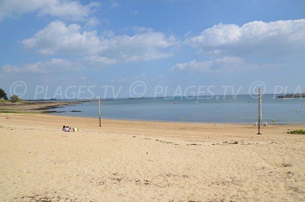 Plage de sable à St Philibert en Bretagne