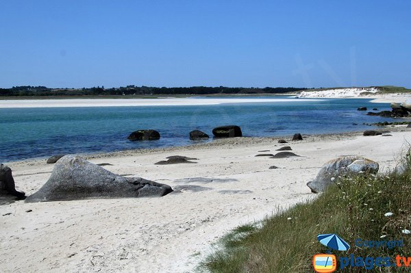 Photo de la plage de Kernic à Plouescat