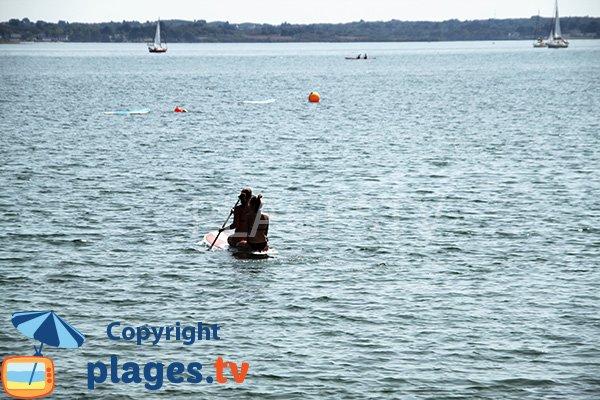 Kayak sur l'ile d'Arz