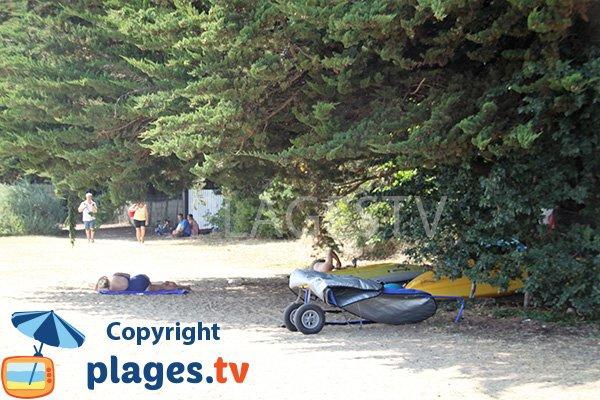Ombre sur la plage de Keroland - Arz