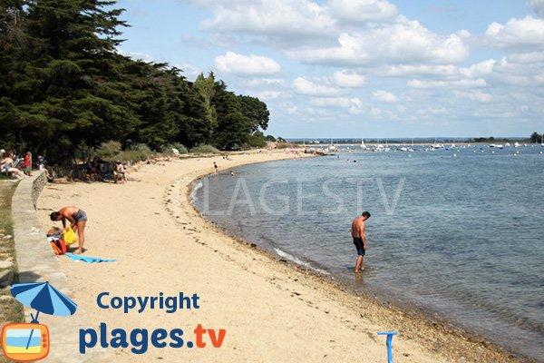 Photo de la plage de Kerolan sur l'ile d'Arz