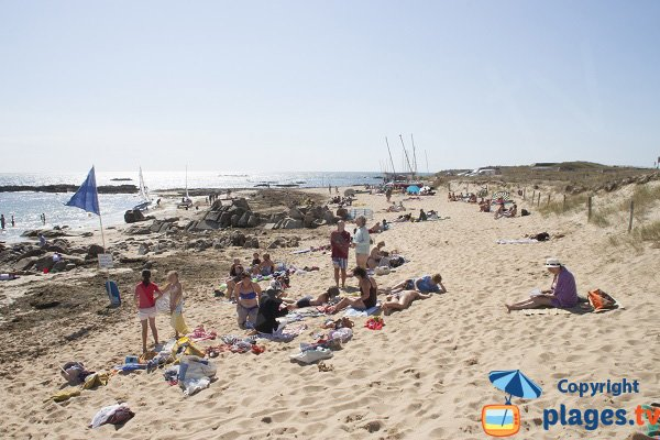 Supervised beach in Erdeven