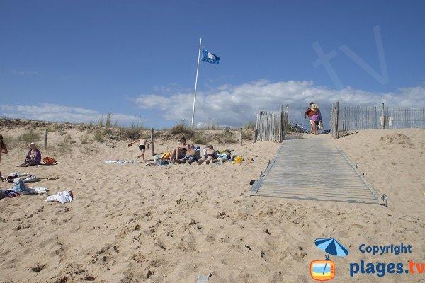 Access to Kerouriec beach in Erdeven