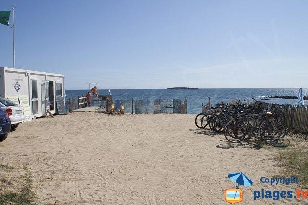 Main access of Kerouriec beach - Erdeven