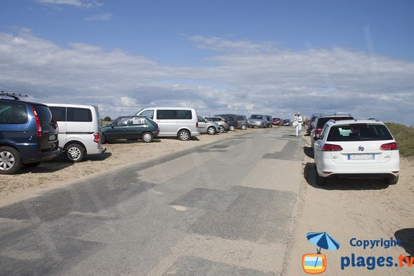 Parking of Kerouriec beach - Erdeven