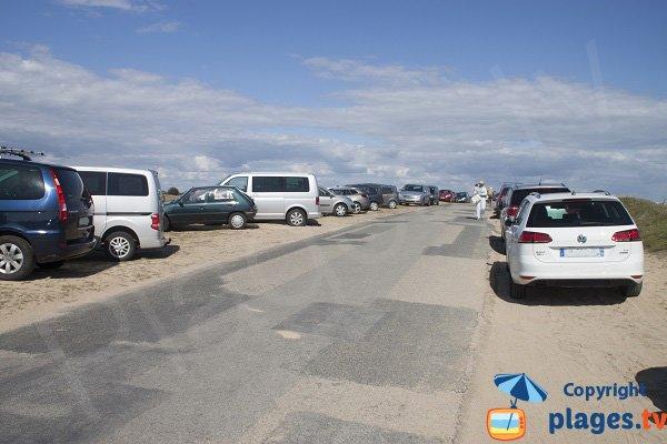 Parking of Kerouriec beach - Erdeven