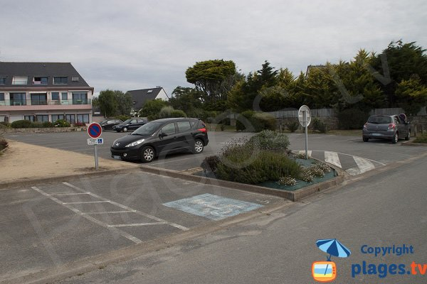 Parking of Kerpape beach in Larmor-Plage
