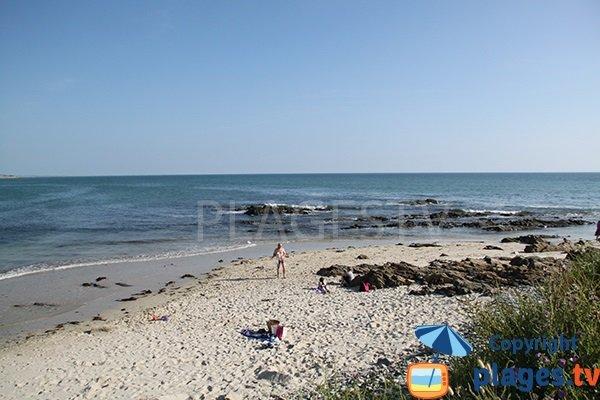 Sable sur la plage de Kerrest à Plozevet - Bretagne
