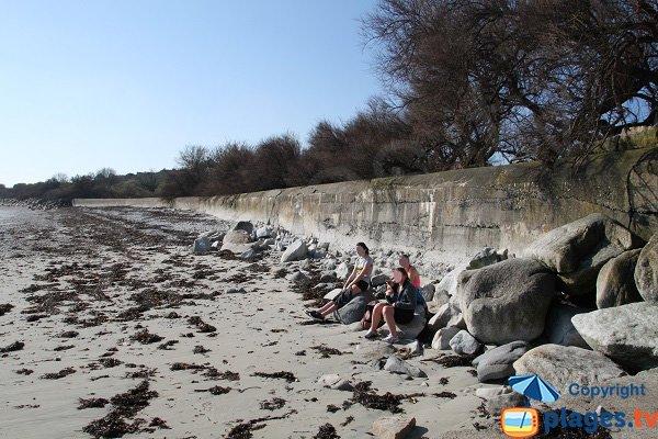 Photo de la plage de Kersaliou à St Pol de Léon