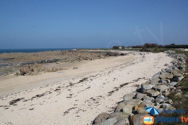 Kervaliou beach in Cléder in Brittany