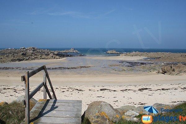 Accès à la plage de Kervaliou - Cléder