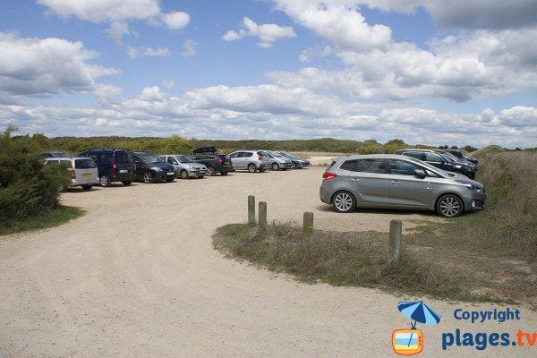 Parking de la plage de Kervégant à Plouhinec