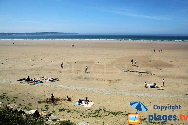 plage de Kervel en Bretagne en juin