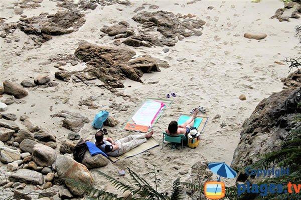 Rochers de la plage de Kerveltrec - Fouesnant