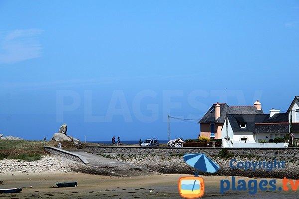 Cale sur la plage de Kervenni - Plouguerneau