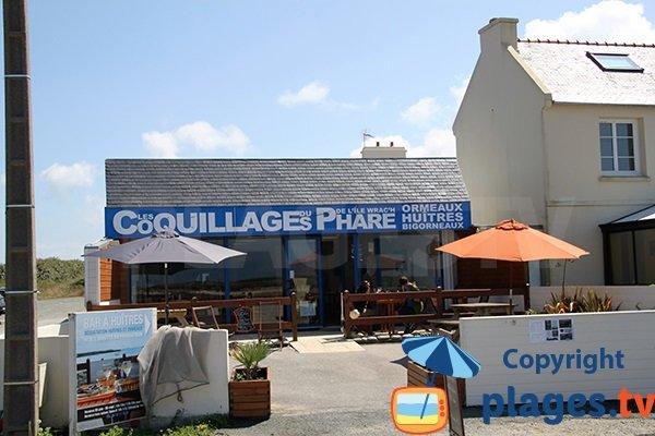 Manger des coquillages en bord de mer à Plouguerneau