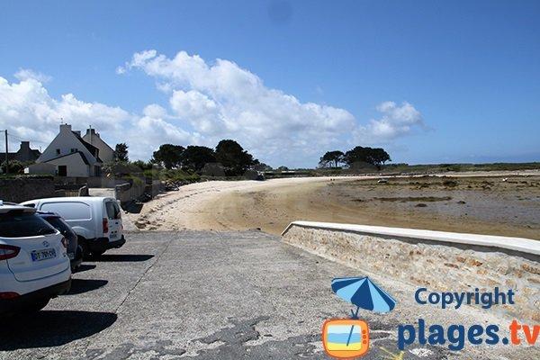 Zone la plus sauvage de la plage Kervenni à Plouguerneau