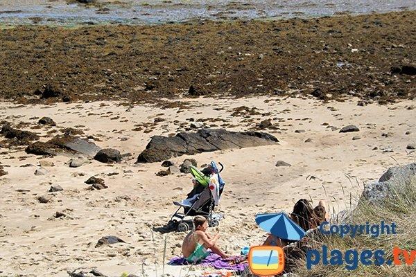 Zone abritée des vents sur la plage de Kervenni à Plouguerneau