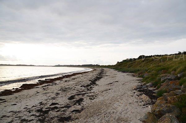 Plage de Kerver en Bretagne au mois de juin
