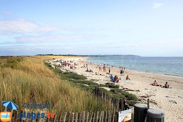 Grande plage entre Arzon et St Gildas de Rhuys