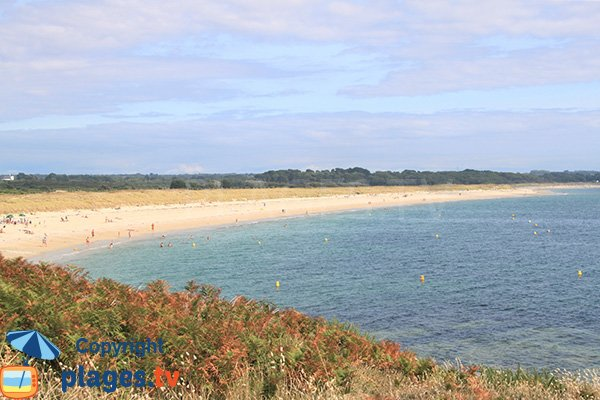 Plage nord de Kerver de St Gildas de Rhuys du côté d'Arzon