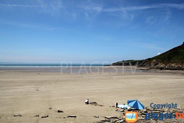 Photo de la plage de Kervijen à Plomodiern - Bretagne