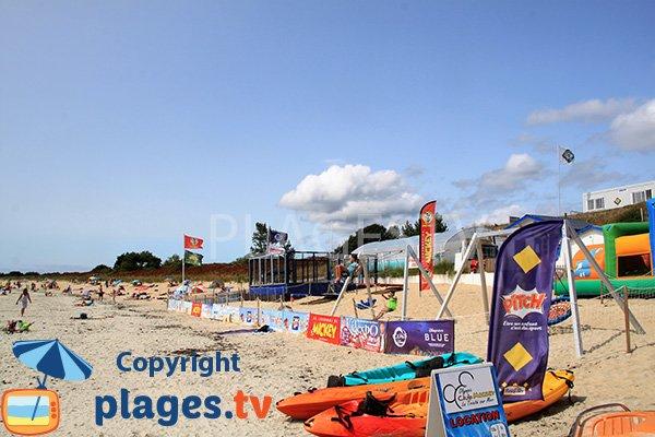 Club mickey sur la plage de Kervillen - La Trinité sur Mer