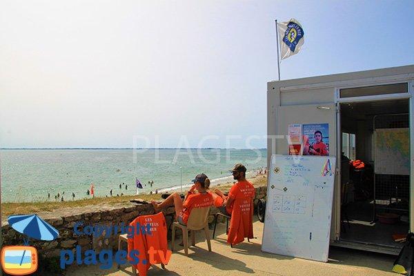 Poste de secours de la plage de Kervillen - La Trinité sur Mer