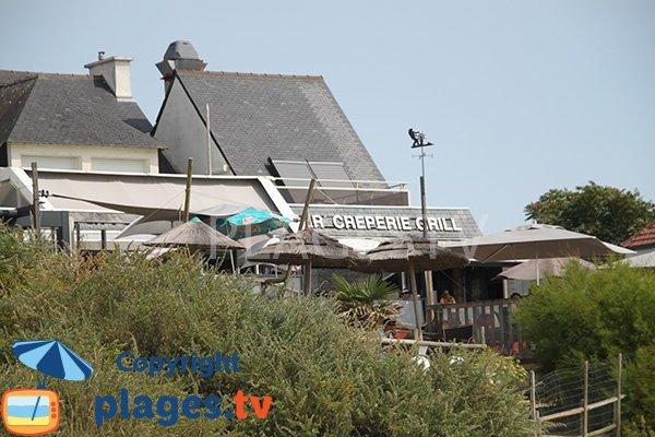 Restaurant sur la plage de Kervillen - La Trinité