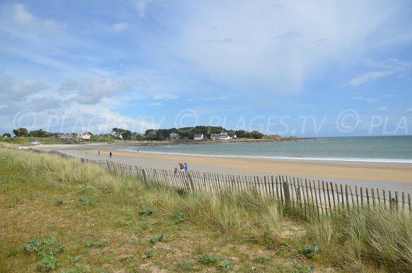 Photo de la plage de Kervillen à La Trinité dans le Morbihan