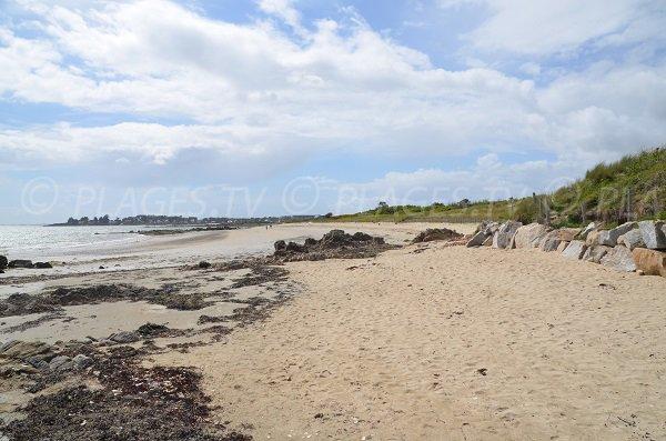 Plage ouest de Kervillen à La Trinité