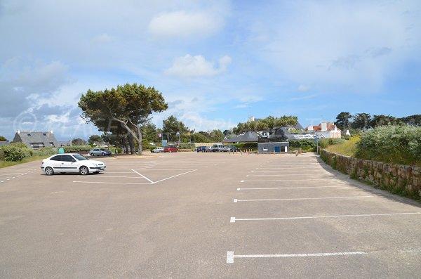 Parking of Kervillen beach in La Trinité sur Mer
