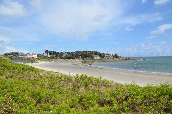 Kervillen beach in La Trinité sur Mer in France