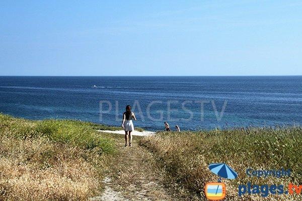 Environnement de la plage de Kerziny - Plouhinec