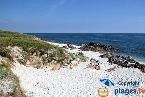 Rochers sur la plage de Kersiny - Plouhinec