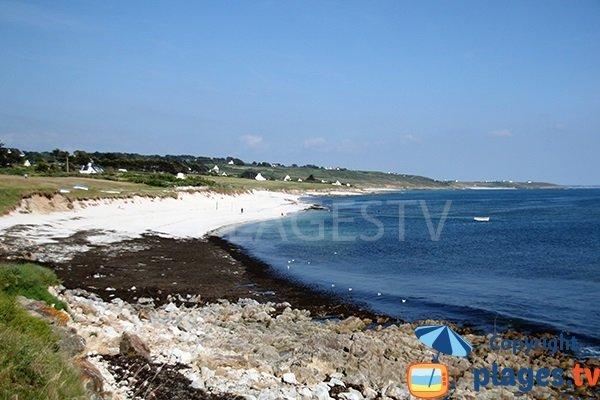 Photo de la plage de Kerziny à Plouhinec dans le Finistère