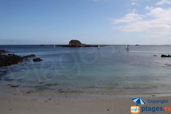 Vue sur le large depuis la plage de Korejou Port - Plouguerneau