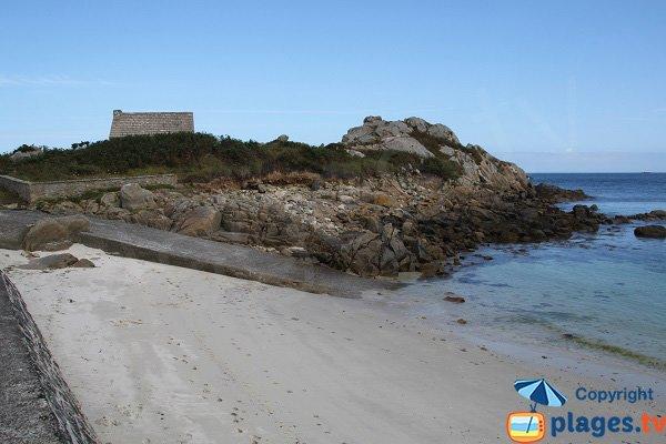 Cale de la plage de Korejou Port - Plouguerneau