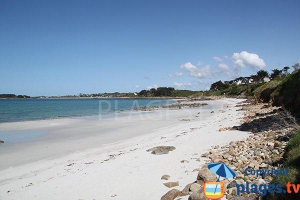 Rochers de la plage de Korn ar Gazel à Saint Pabu