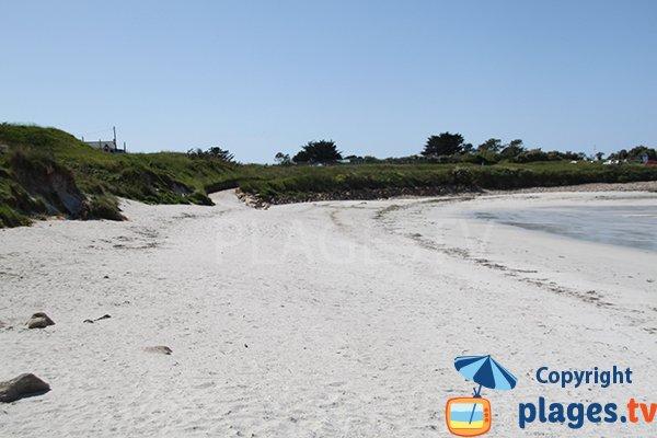 Accès à la plage de Korn ar Gazel à Saint Pabu